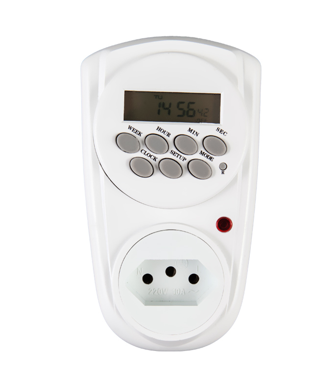 Brazilian Digital Weekly Timer Socket Plug ETB-12A