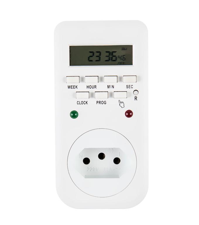 Brazilian Digital Weekly Timer Socket Plug ETB-65A