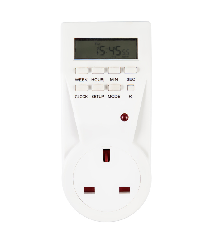 Digital Weekly Timer Socket UK Plug ETE-23A