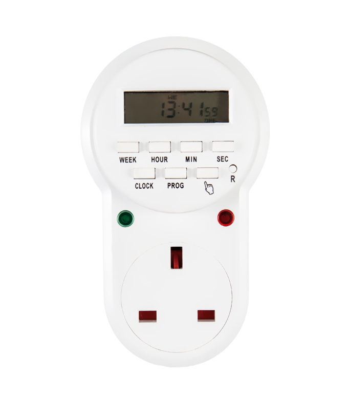 Digital Weekly Timer Socket UK Plug ETE-63A