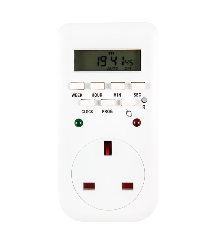 Digital Weekly Timer Socket UK Plug ETE-65A