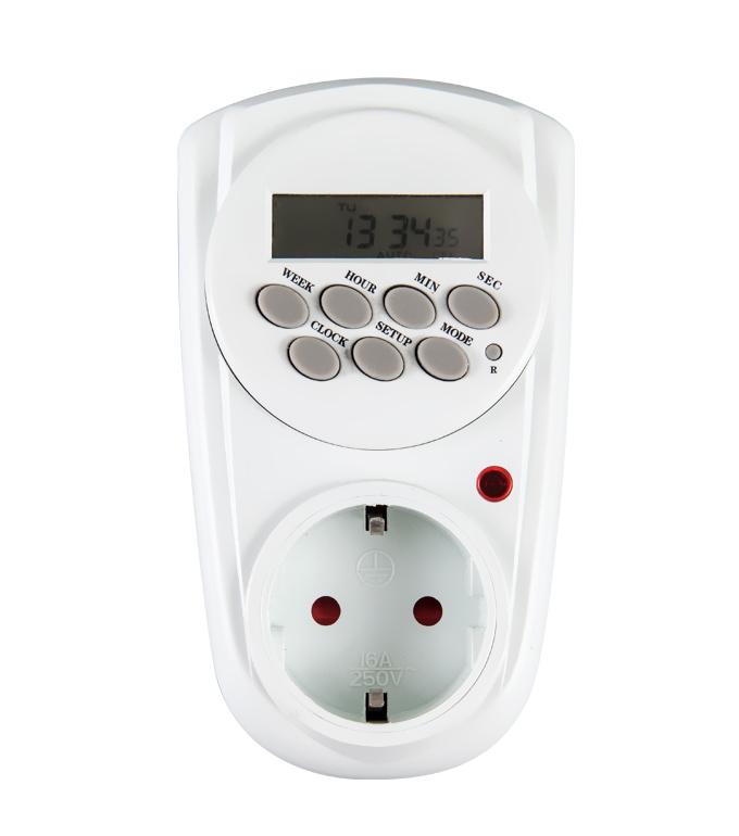 Digital Weekly Timer Socket EU Plug ETG-12A