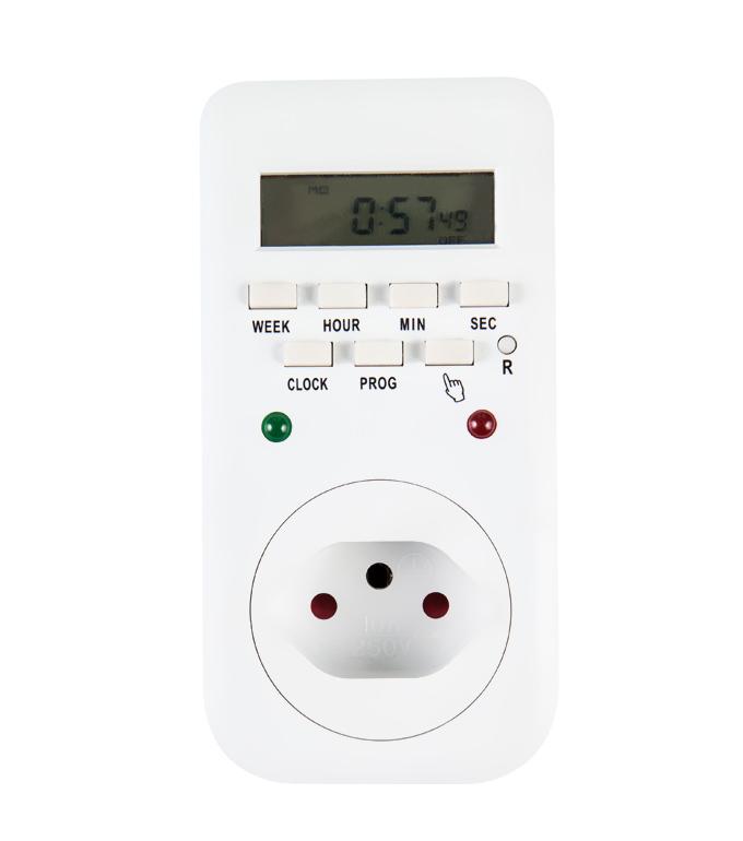 Digital Weekly Timer Socket Switzerland Plug ETS-65A