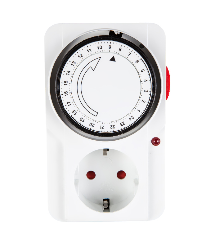 Mechanical 24 Hours Timer Socket EU Plug TG-22A