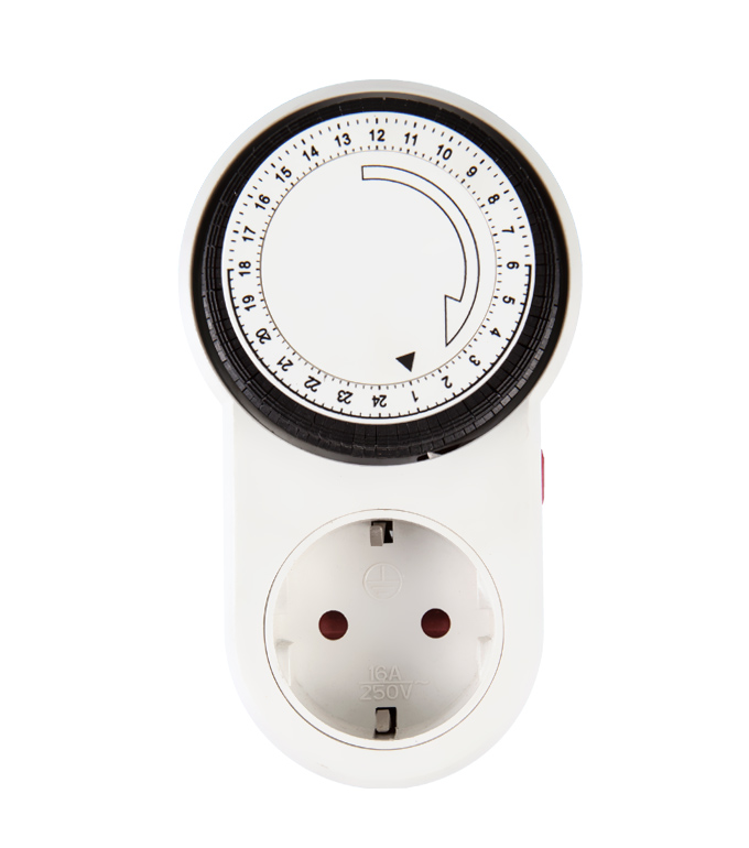 Mechanical 24 Hours Timer Socket EU Plug TG-63A