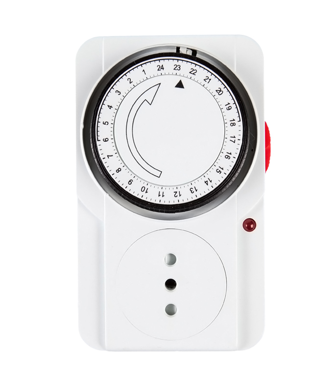 Mechanical 24 Hours Timer Socket Chile Plug TI-22A(B)