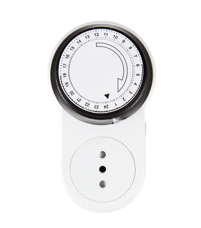 Mechanical 24 Hours Timer Socket Chile Plug TI-63A(B)