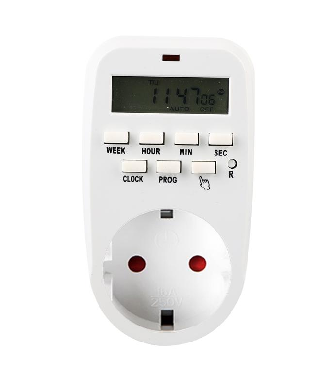 Digital Weekly Timer Socket Germany Plug ETG-88A
