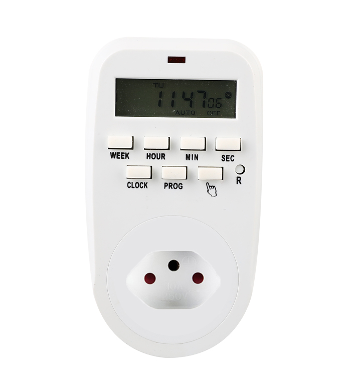 Digital Weekly Timer Socket Switzerland Plug ETS-88A