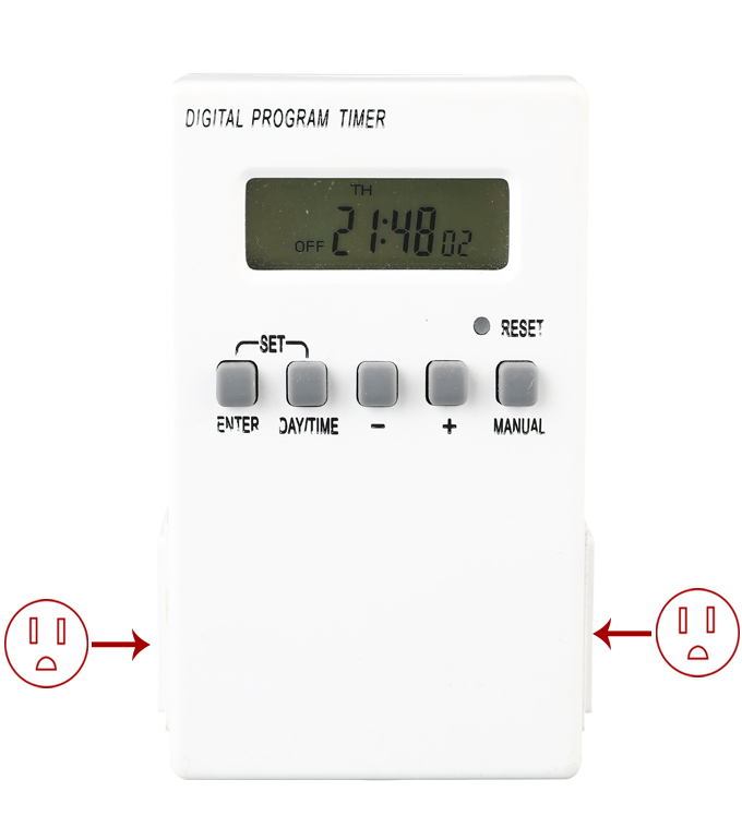 Digital Weekly Timer Socket American Plug ETU-38A