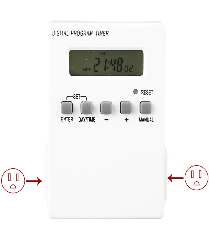 Digital Weekly Timer Socket American Plug ETU-38A